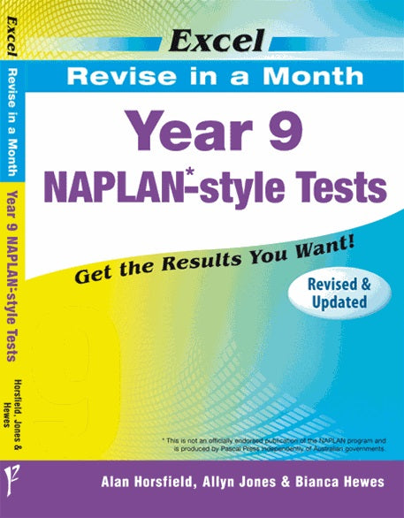 Naplan - Revise in a Month Tests - Year 9 - Excel