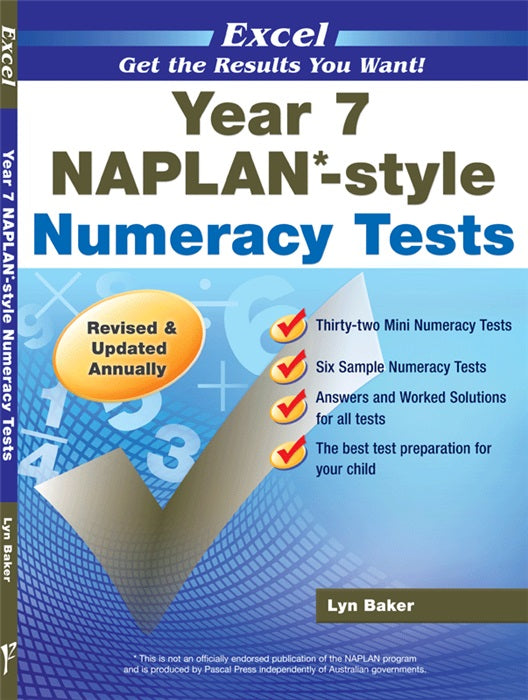 Naplan - Numeracy Test - Year 7 - Excel