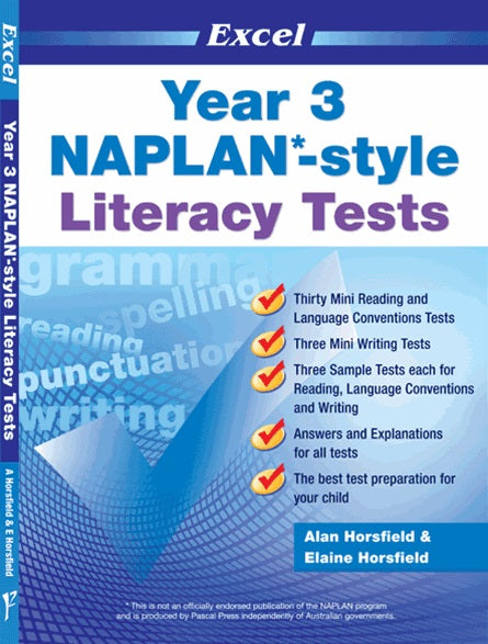 EXCEL NAPLAN STYLE LITERACY TESTS YEAR 3