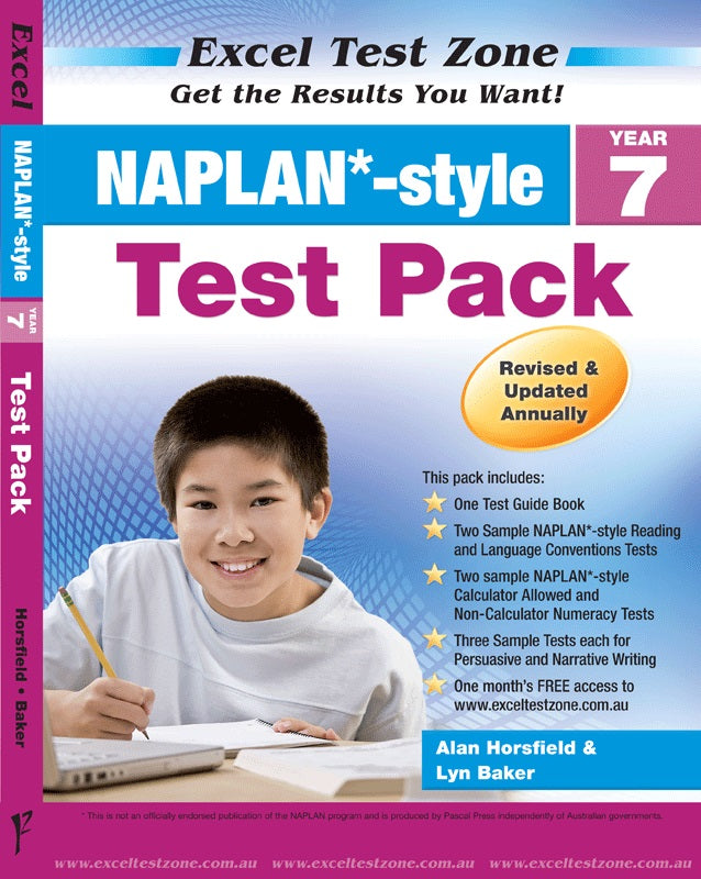 Naplan - Tests Pack - Year 7 - Excel