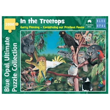 1000 Pieces - In the Treetops - Blue Opal