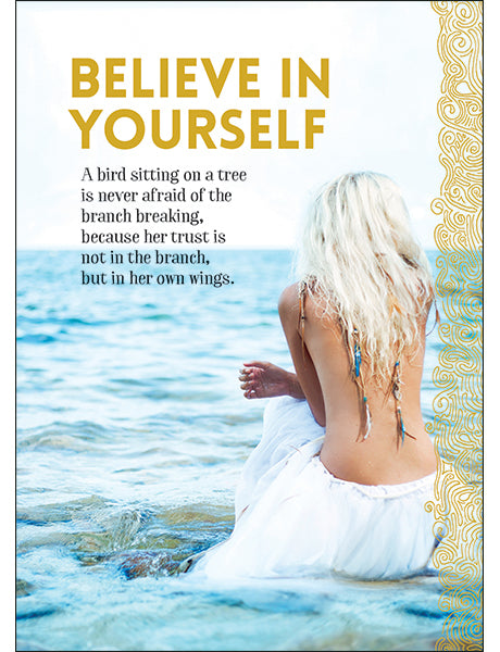 Affirmations Spiritual Card - Believe in Yourself