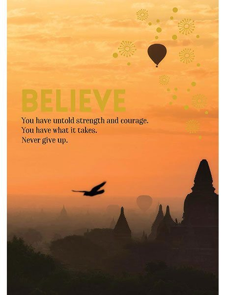 Affirmations Spiritual Card - Believe