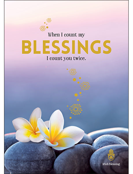 Affirmations Spiritual Card - When i Count my Blessings