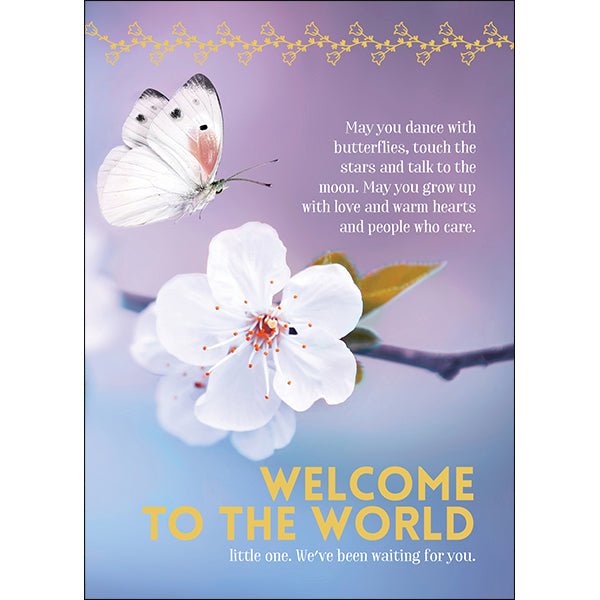 Affirmations Spiritual Card - Welcome to the World