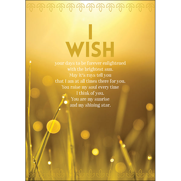 Affirmations Spiritual Card - I Wish Your Day Be Enlightened