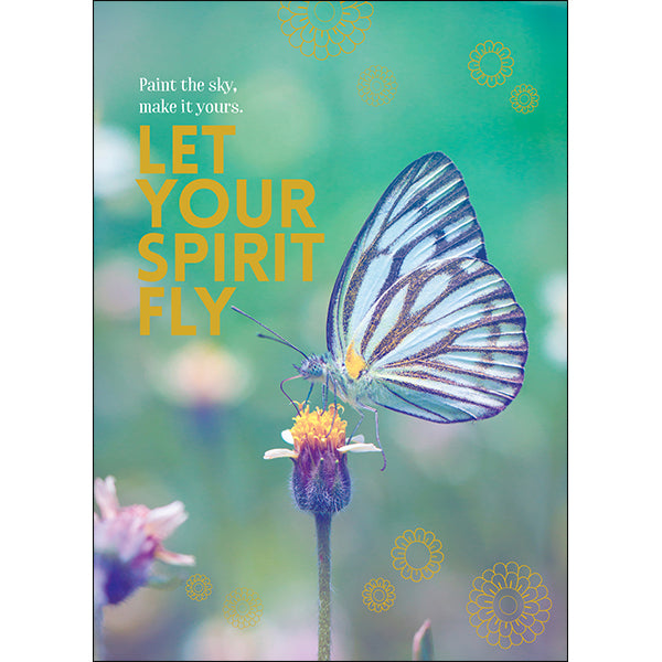 Affirmations Spiritual Card - Let Your Spirit Fly