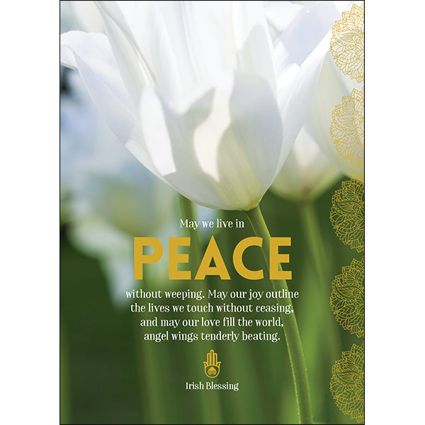 Affirmations Spiritual Card - May We Live in Peace