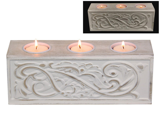 23cm 3 Piece Candle Holder