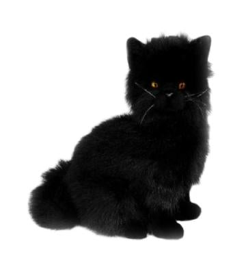 Crystal - Black Cat - 34cm Sitting - Plush Animals - Bocchetta