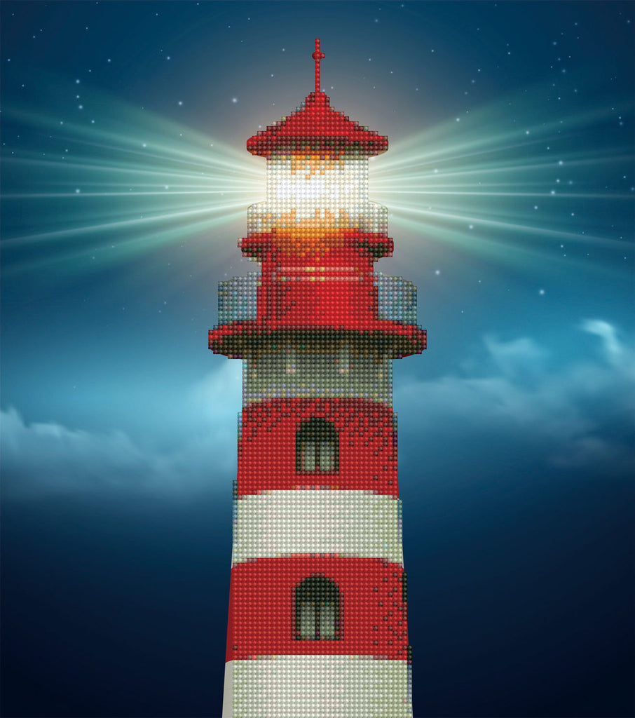 Light House - 37x42cm - Diamond Art - Diamond Dotz