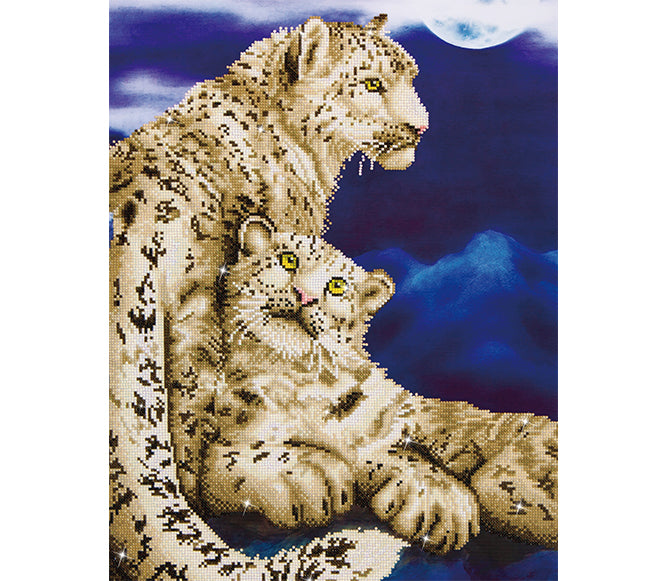 Snow Leopards - 52x77cm - Diamond Dotz
