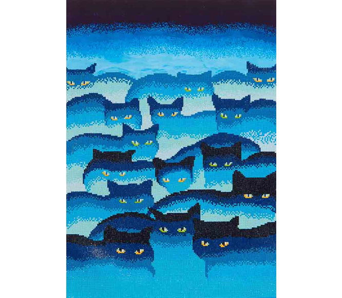 Smokey Mountain Cats - 47x66cm - Diamond Dotz