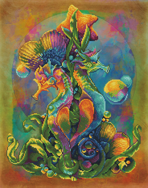 Sea Horses - 52x66cm - Diamond Dotz
