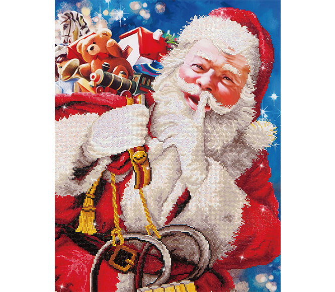 Santas Secret - 57x82cm - Diamond Dotz