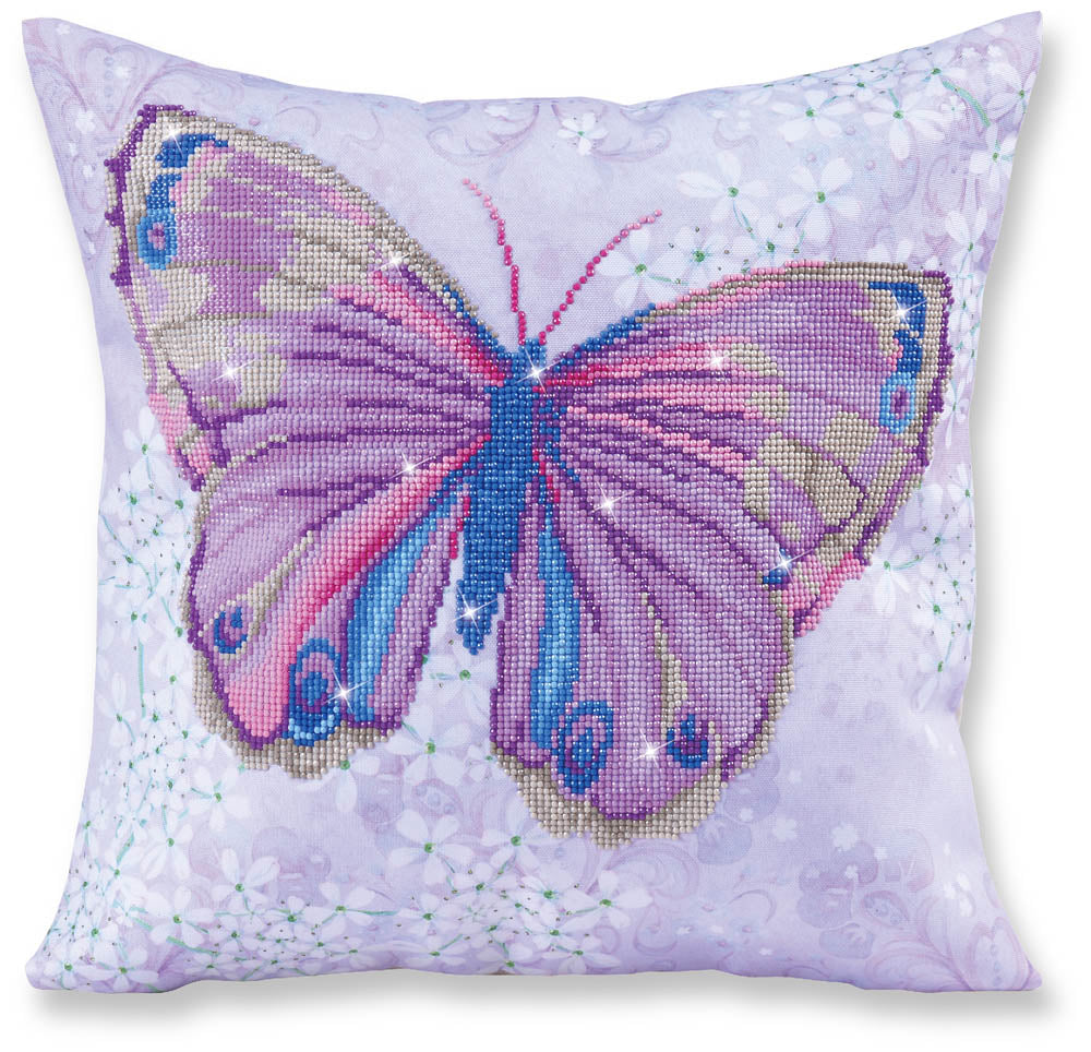 Papillon Mauve Butterfly - 44x44cm - Pillowcase - Diamond Dotz