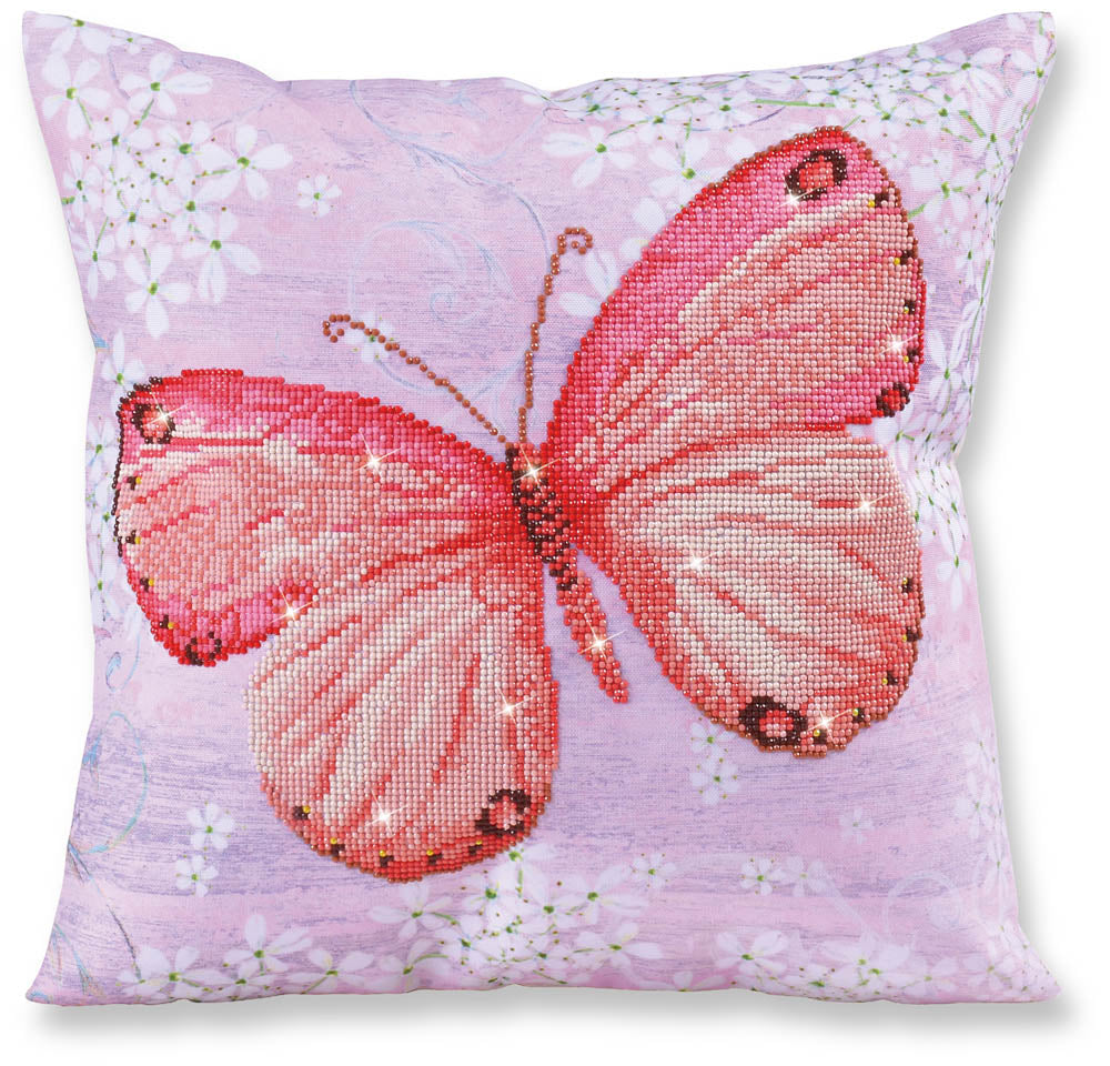 Papillon Apricot - Decorative Pillow - 44x44cm - Diamond Dotz