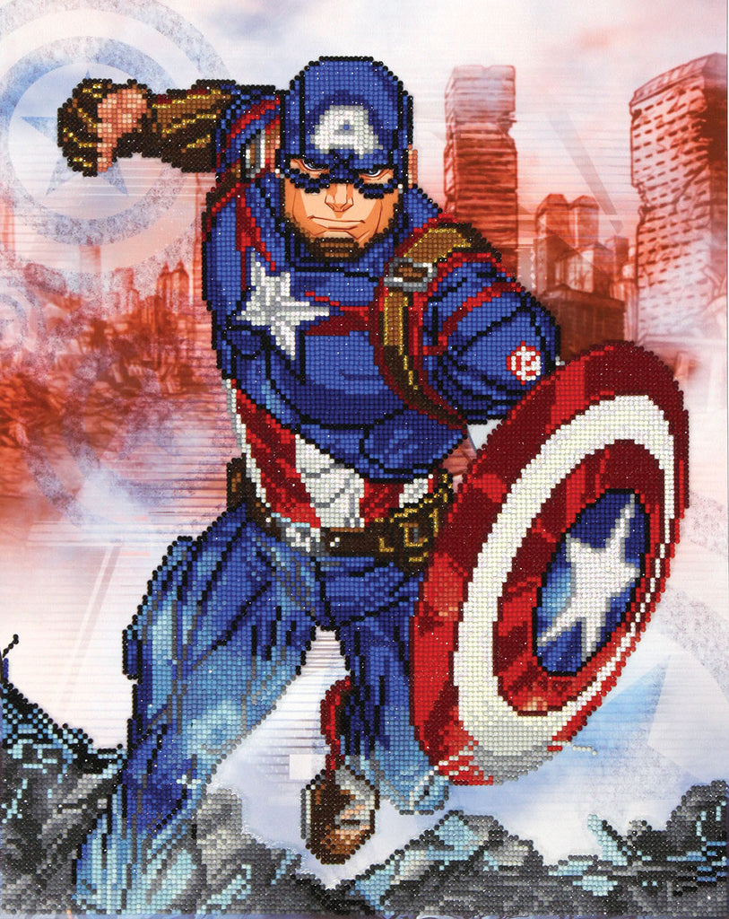 Captain America in Action - 53x42cm - Diamond Dotz