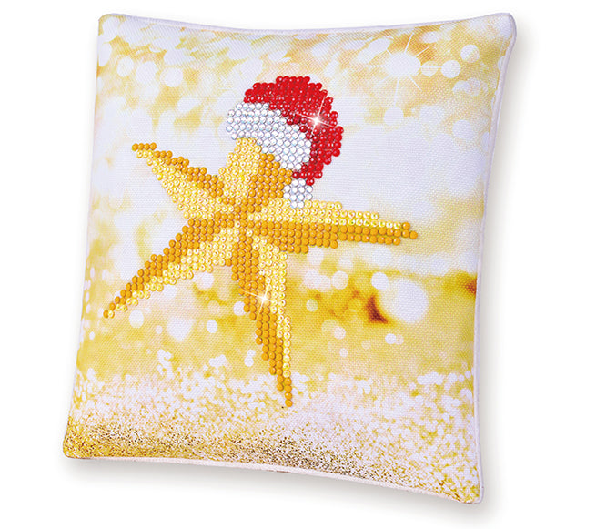 Christmas Star - Pillow - 18x18cm - Diamond Dotz