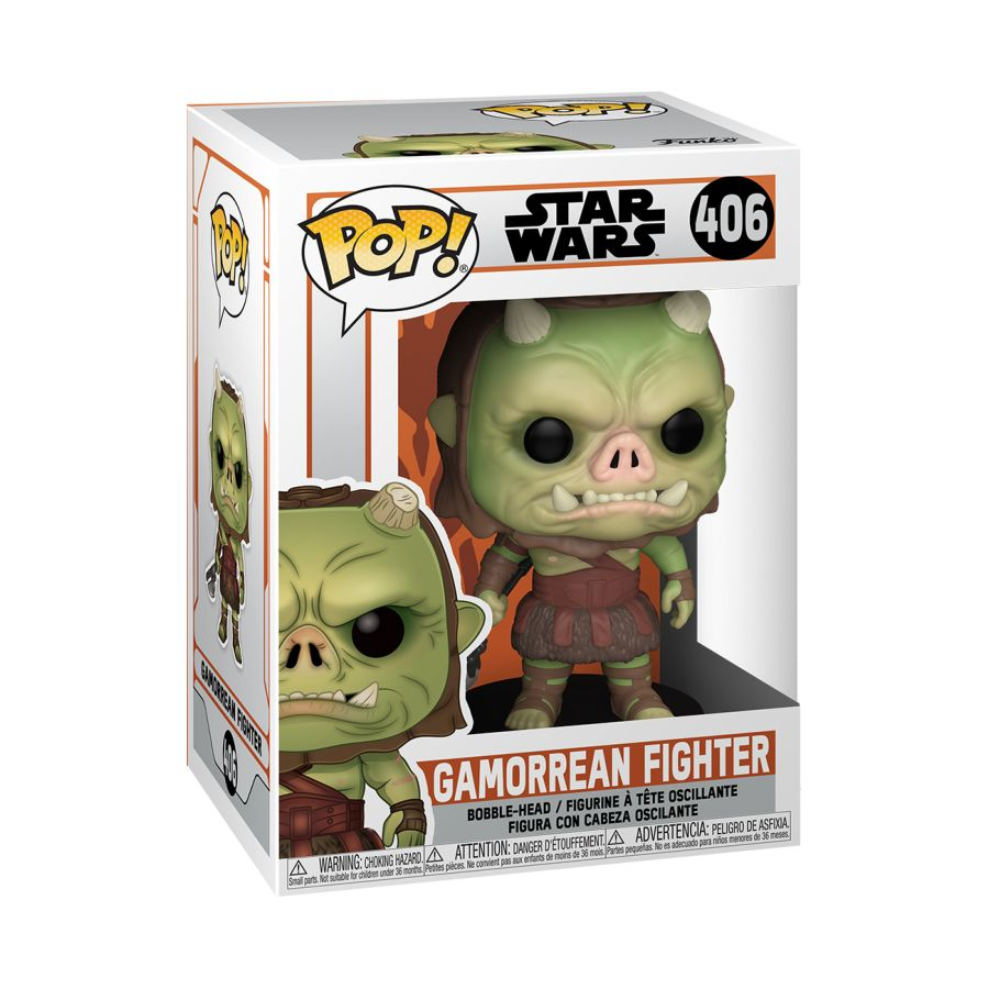 Funko Pop! Vinyl figure of boxed Star Wars Mandalorian, Gamorrean Fighter #406. Collectable Figure at the Funporium.