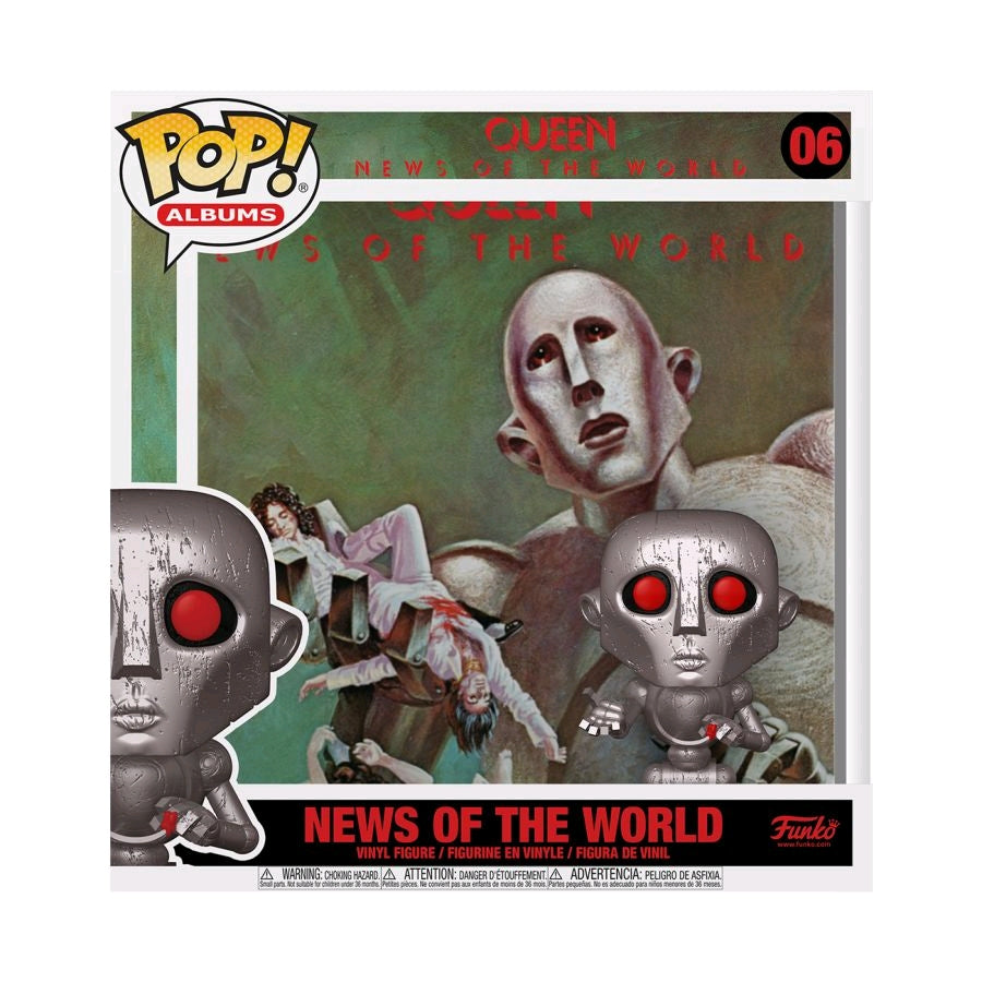 Queen - News of the World - Metallic - Album Cover - #06 - Pop! Vinyl