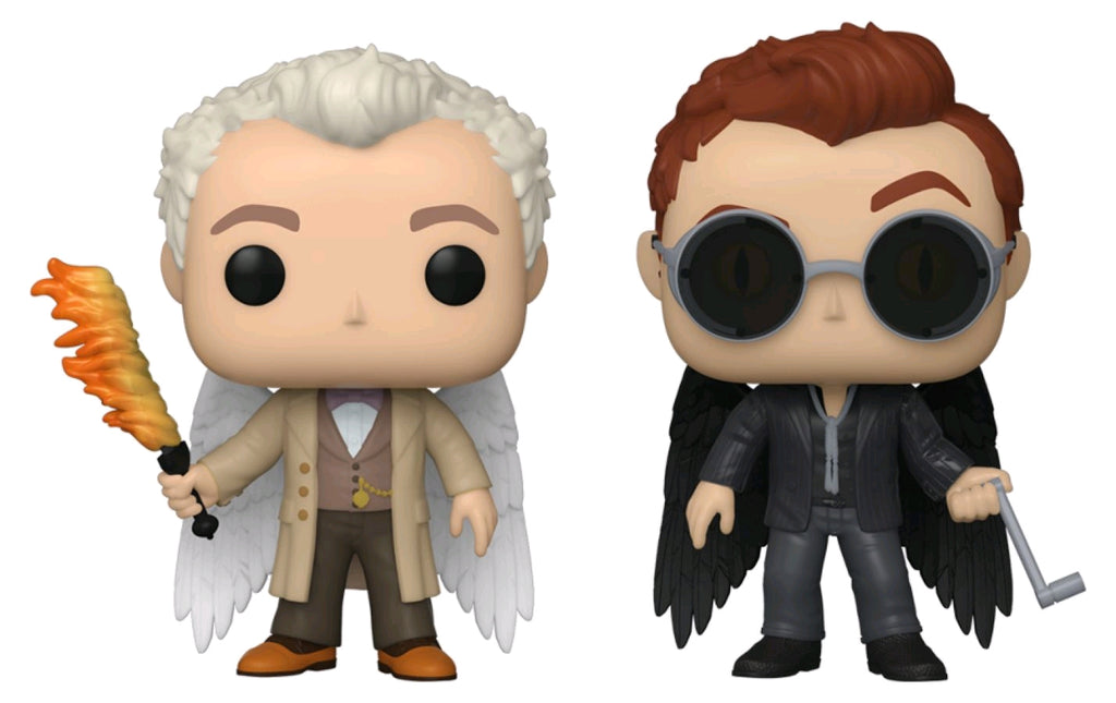 Good Omens - Aziraphale & Crowley W/Wings - 2 Pack - #NA - Pop! Vinyl
