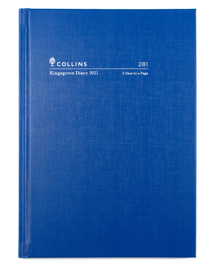 Kingsgrove - A5 - 2 Days to a Page - #281 - 2021 Diary - Blue - Collins Debden