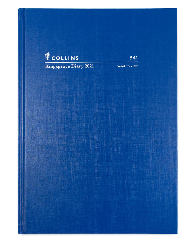 Kingsgrove - A4 - Week To View - Blue - 2021 Diary - Collins Debden
