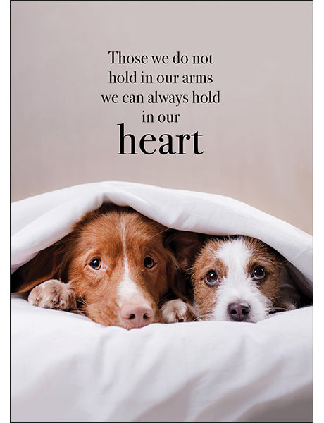 Affirmations Animal Card - Those We Do Not Hold In Our Arms
