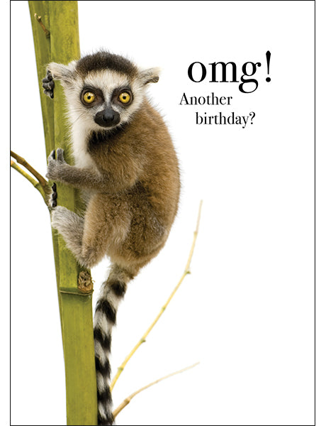 Affirmation Animal Card - OMG! Another Birthday?