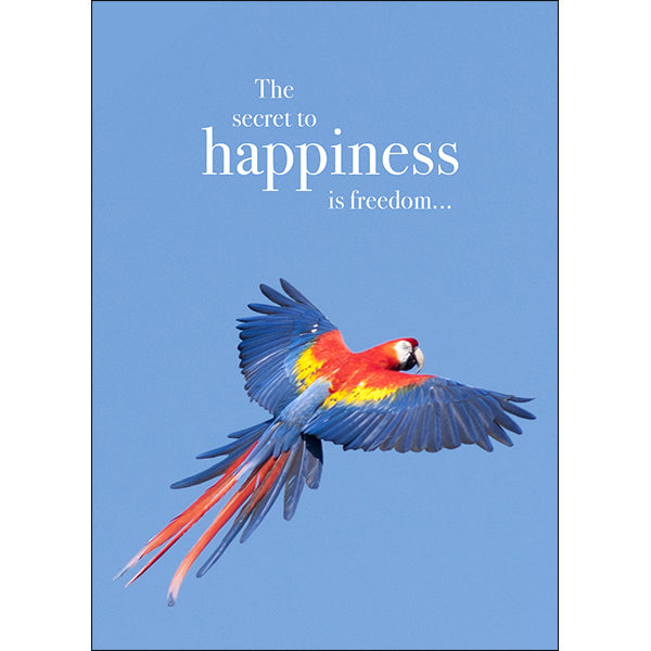 Affirmation Animal Card - Happiness