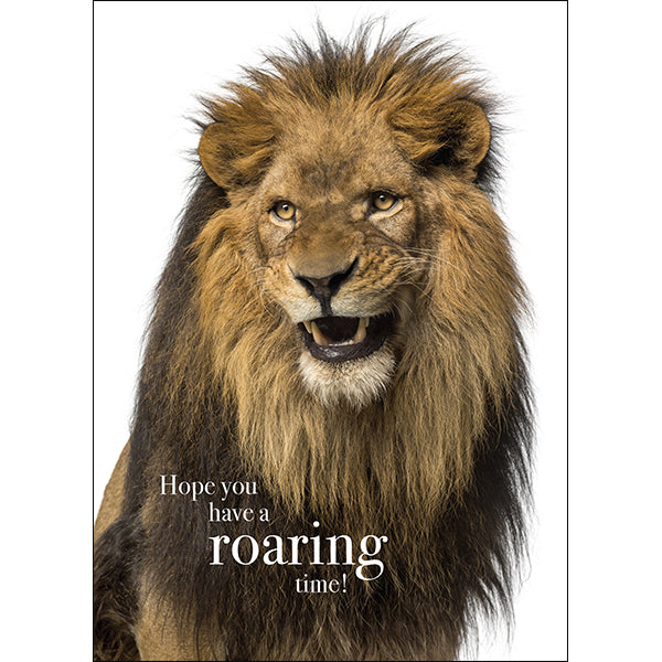 Affirmations Animal Card - Roaring Time