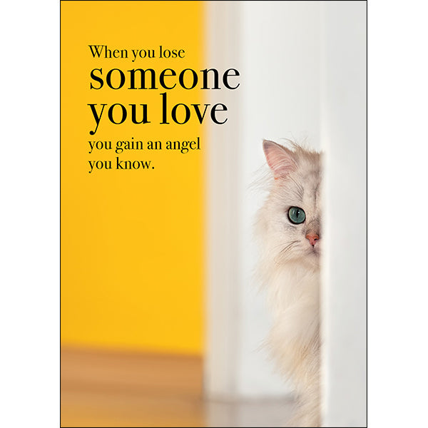 Affirmations Animal Card - When You Lose Someone You Love