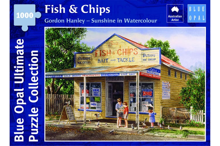 1000 Pieces - Fish & Chips - Blue Opal