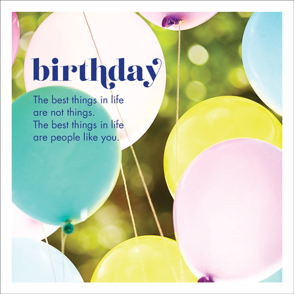 Affirmations Photographic Card - Birthday