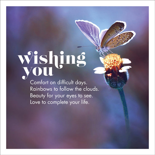 Affirmations Photographic Card - Wishing You