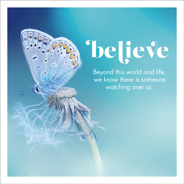 Affirmations Photographic Card - Believe