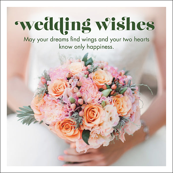 Affirmations Photographic Card - Wedding Wishes