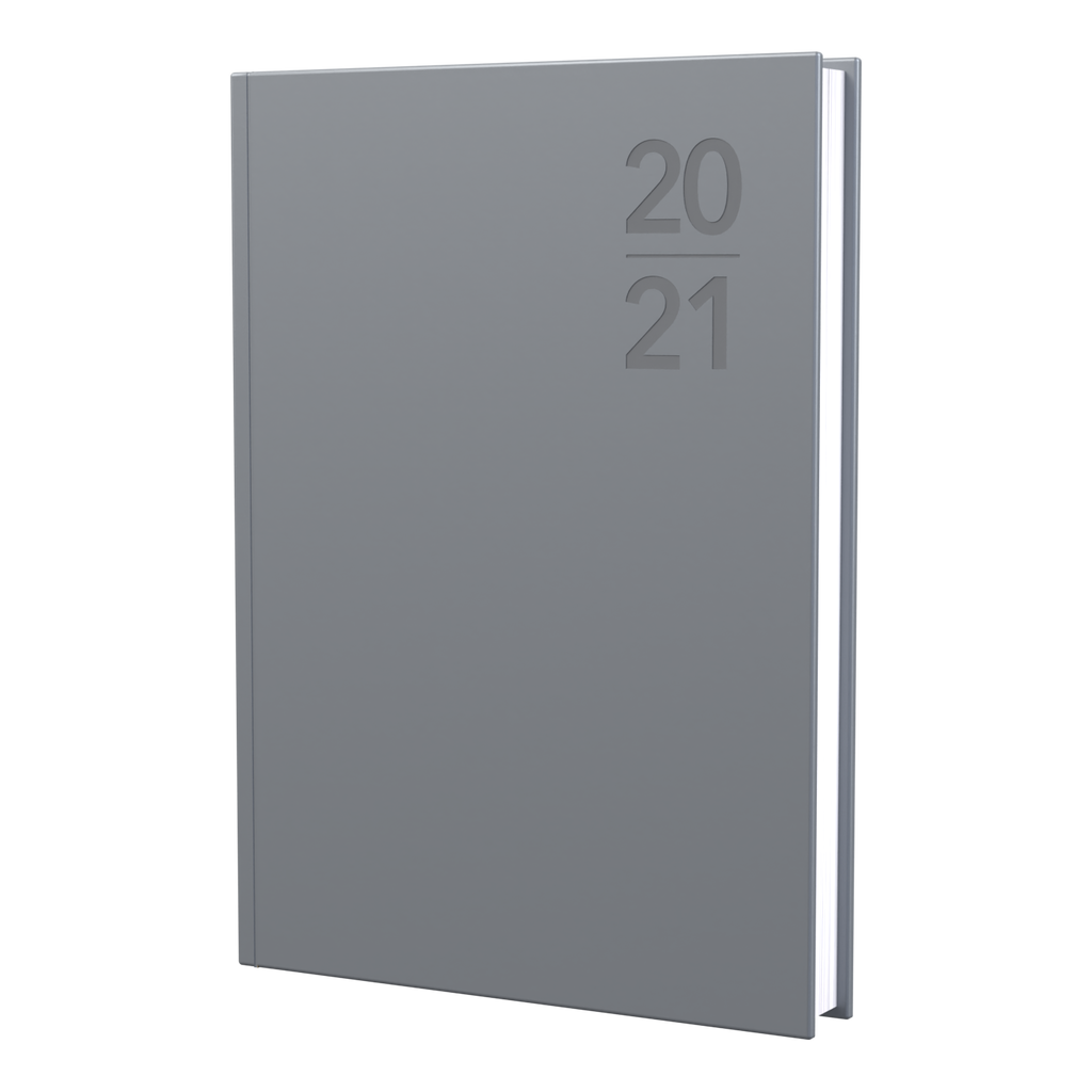 Silhouette - A5 - Week to View - Silver - 2021 Diary - Collins Debden
