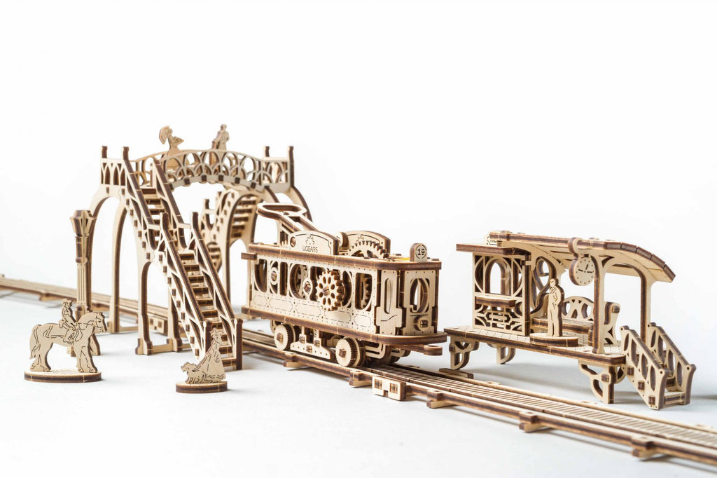 Tram Line - 284 Pieces - UGears