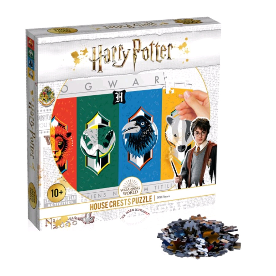 500 Piece - Harry Potter House Crests - Jigsaw Puzzle