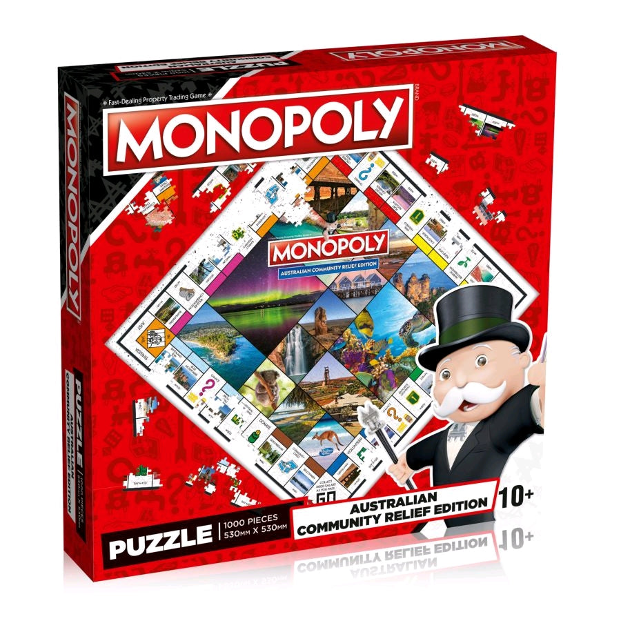 Monopoly 1000 Piece jigsaw puzzle. Australian Community Relief edition. Red Box.