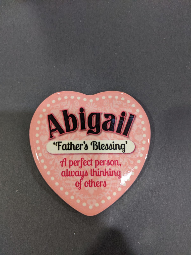 Love Heart Magnet - Abigail Father's Blessing