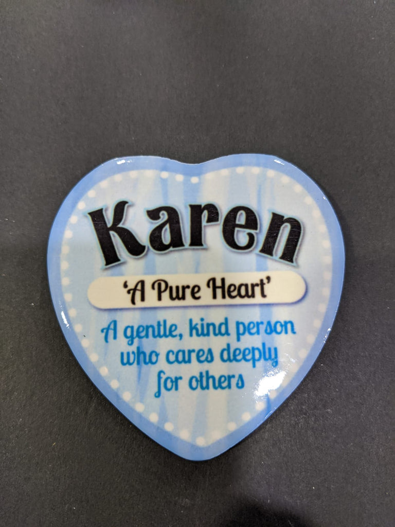 Love Heart Magnet - Karen A Pure Heart