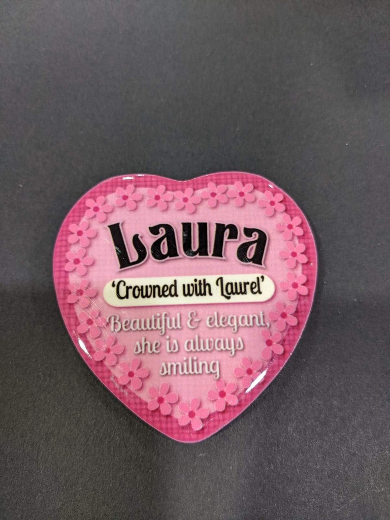 Love Heart Magnet - Laura Crowned with Laurel