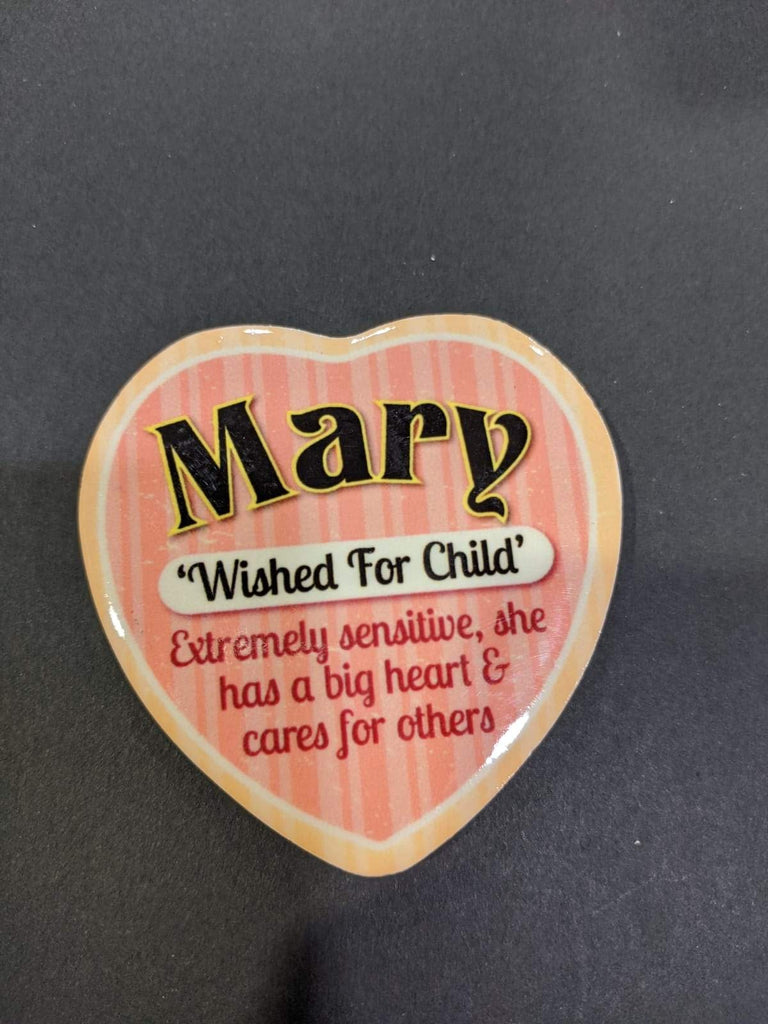 Love Heart Magnet - Mary Wished for Child
