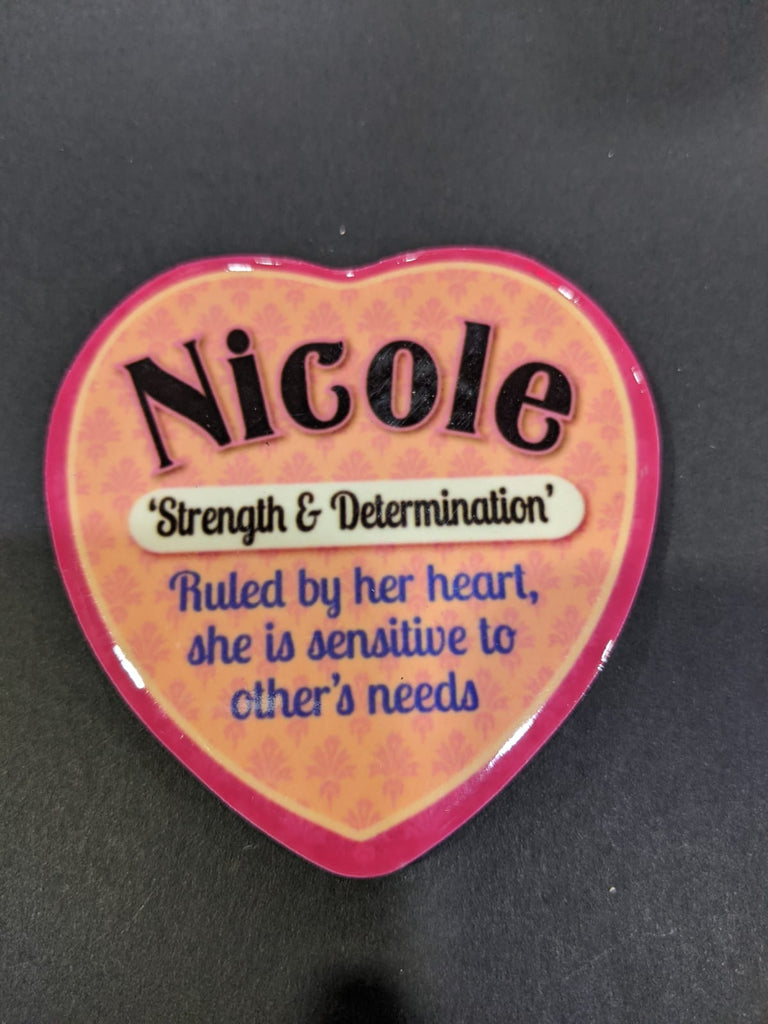 Love Heart Magnet - Nicole Strength & Determination
