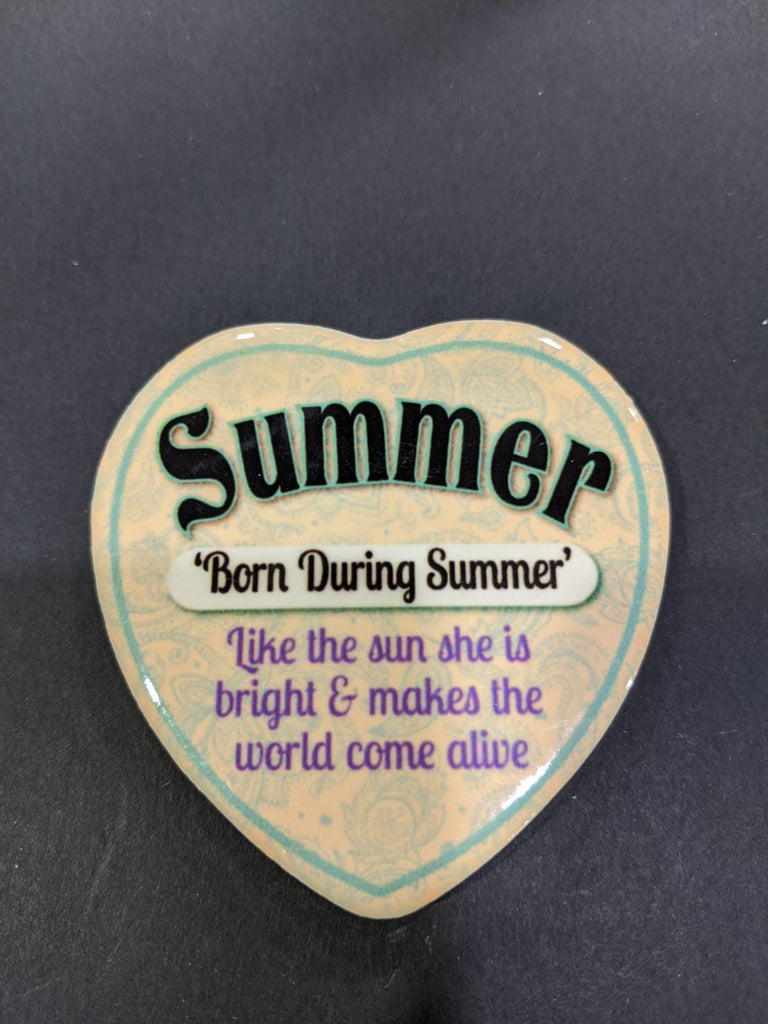 Love Heart Magnet - Summer Born During Summer