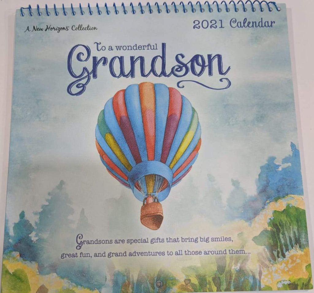 Calendar 2021 - Air Balloon Grandson - Small - New Horizons