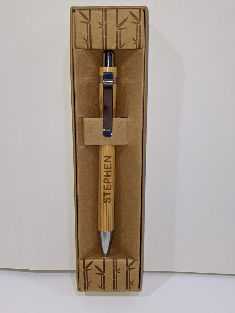 Stephen - Bamboo Eco Pens - Boxed - TSK